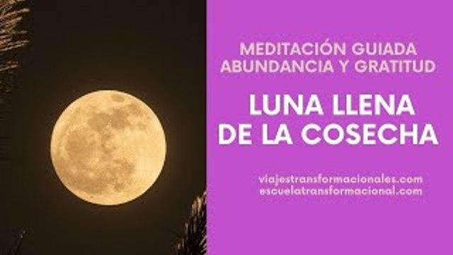 MEDITACIÓN ABUNDANCIA Y GRATITUD: LUNA LLENA DE LA COSECHA